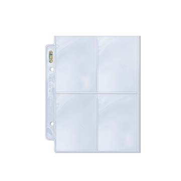 Ultra Pro 4-Pocket Platinum Page for Mini 2-Ring Albums 100ct | Eastridge Sports Cards
