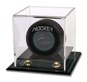 Ultra Pro Baseball & Puck Gold Riser Display | Eastridge Sports Cards