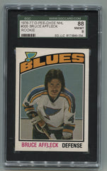 1976-77 O-Pee-Chee #305 Bruce Affleck SGC 88 (8) (Rookie) | Eastridge Sports Cards