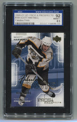 2000-01 Upper Deck Pros and Prospects #109 Scott Hartnell #0368/1000 SGC 92 (8.5) (Rookie) | Eastridge Sports Cards