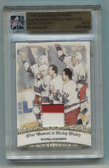 2012-13 ITG History Of Hockey Great Moments Memorabilia Gold #126 Saying Goodbye- Keith Tkachuk/Shane Doan/Craig Muni/Alexei Zhamnov #09/10 | Eastridge Sports Cards