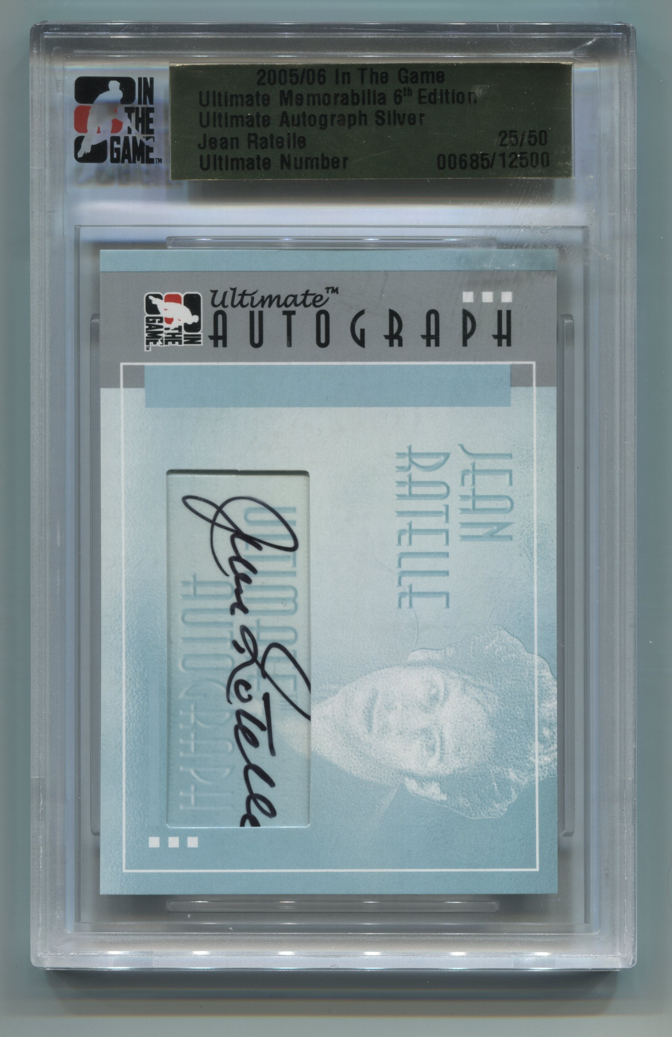 2005-06 ITG Ultimate Memorabilia Ultimate Autograph Silver Jean Ratelle #25/50 | Eastridge Sports Cards