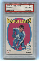 1971-72 O-Pee-Chee #194 Rick Ley PSA 8 | Eastridge Sports Cards
