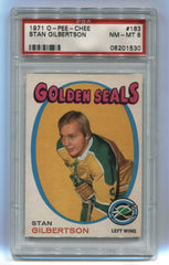 1971-72 O-Pee-Chee #183 Stan Gilbertson PSA 8 (Rookie) | Eastridge Sports Cards