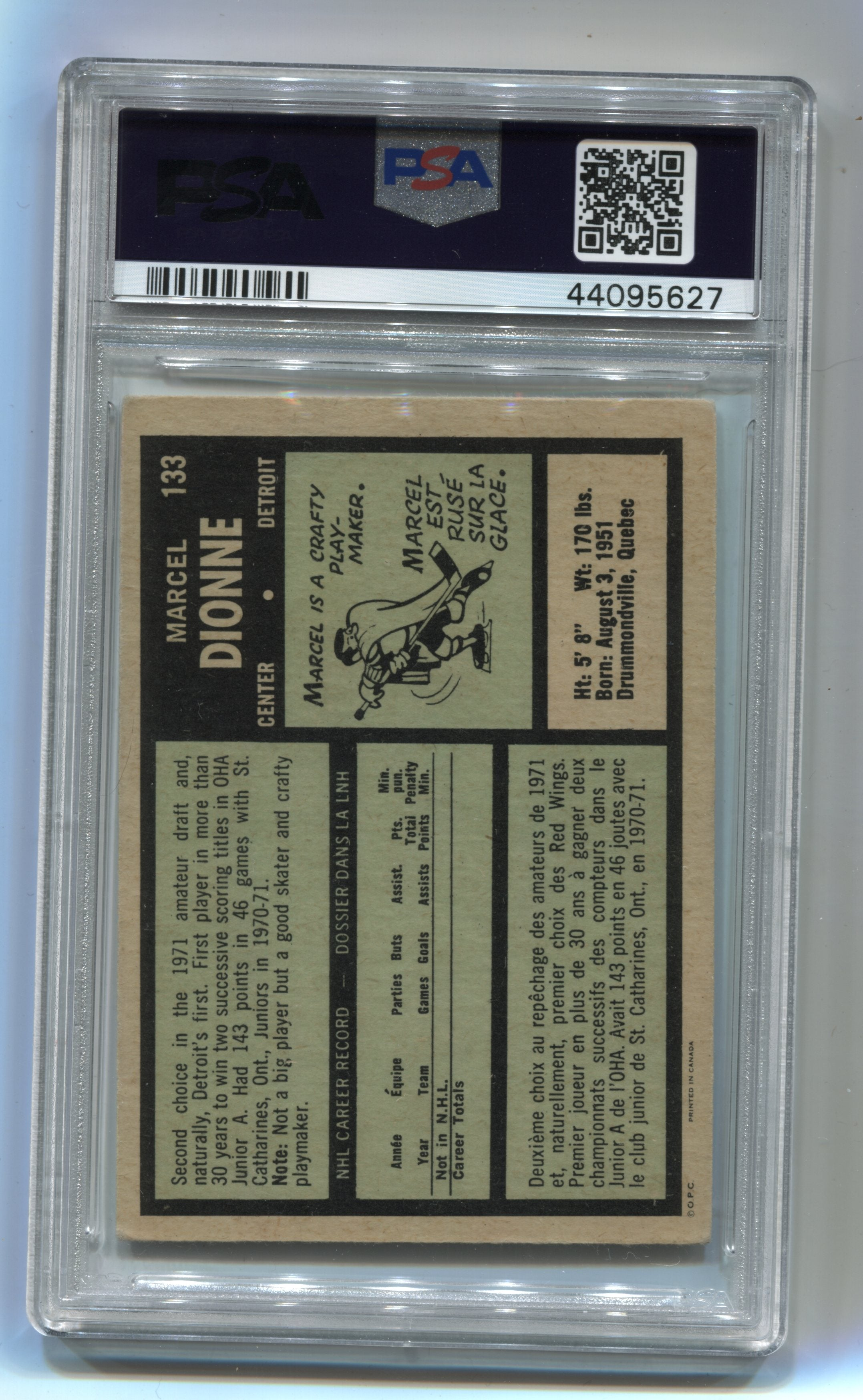 1971-72 O-Pee-Chee #133 Marcel Dionne PSA 5 (Rookie) | Eastridge Sports Cards