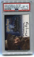 2006 Harry Potter and the Chamber of Secrets Autographs #7 Miriam Margolyes PSA 8 | Eastridge Sports Cards