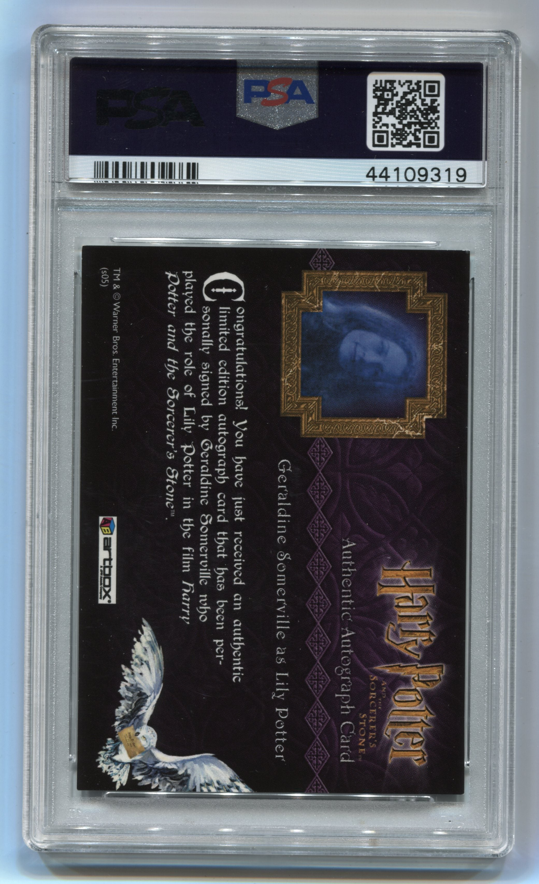 2005 Harry Potter and the Sorcerer's Stone Autographs #10 Geraldine Somerville PSA 6 | Eastridge Sports Cards