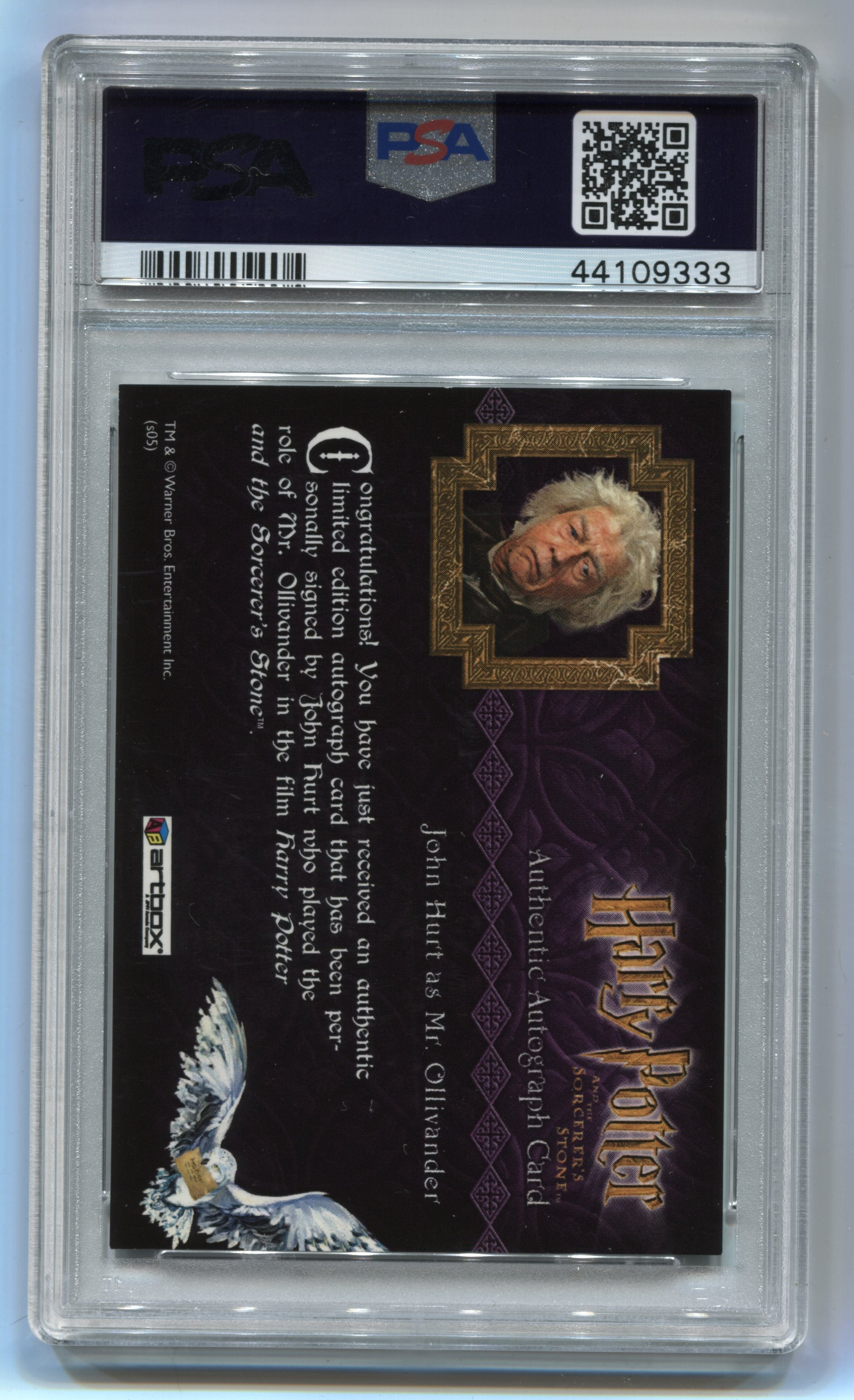 2005 Harry Potter and the Sorcerer's Stone Autographs #14 John Hurt PSA 7 | Eastridge Sports Cards
