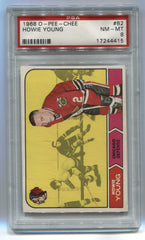 1968-69 O-Pee-Chee #82 Howie Young PSA 8 | Eastridge Sports Cards