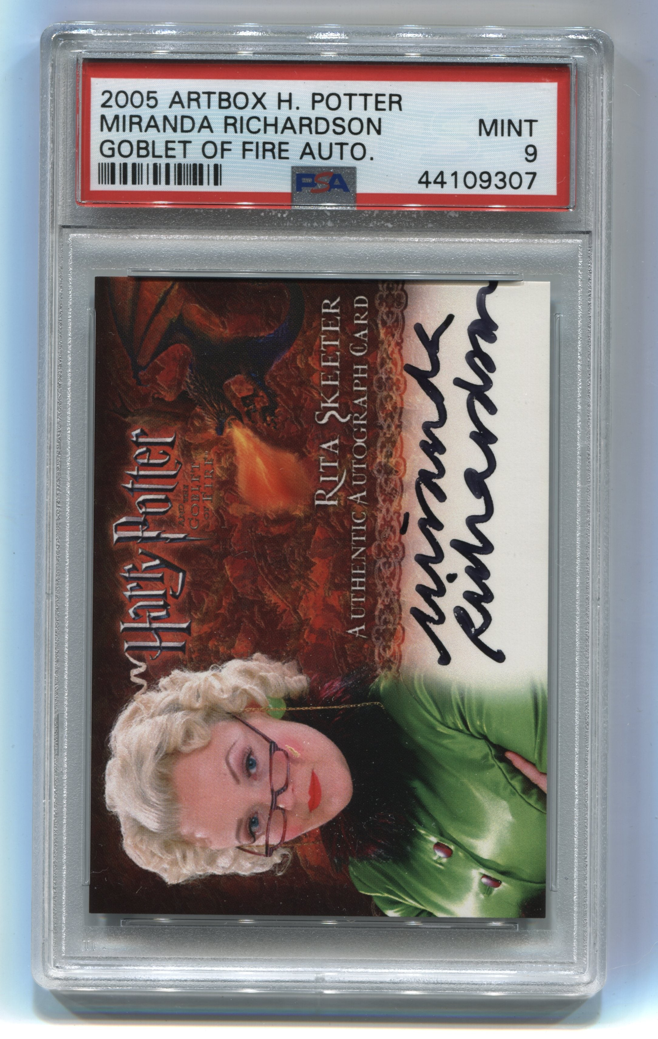 2005 Harry Potter and the Goblet of Fire Autographs Miranda Richardson PSA 9 | Eastridge Sports Cards