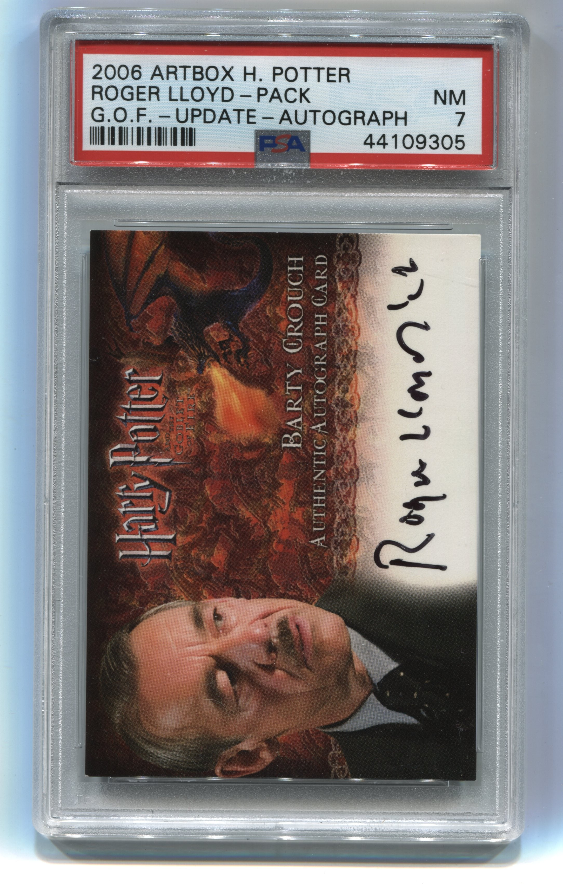 2006 Harry Potter and the Goblet of Fire Update Autographs Roger Lloyd-Pack PSA 7 | Eastridge Sports Cards
