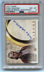 2001 Lord of the Rings Fellowship of the Ring Autographs Hugo Weaving PSA 8 | Eastridge Sports Cards