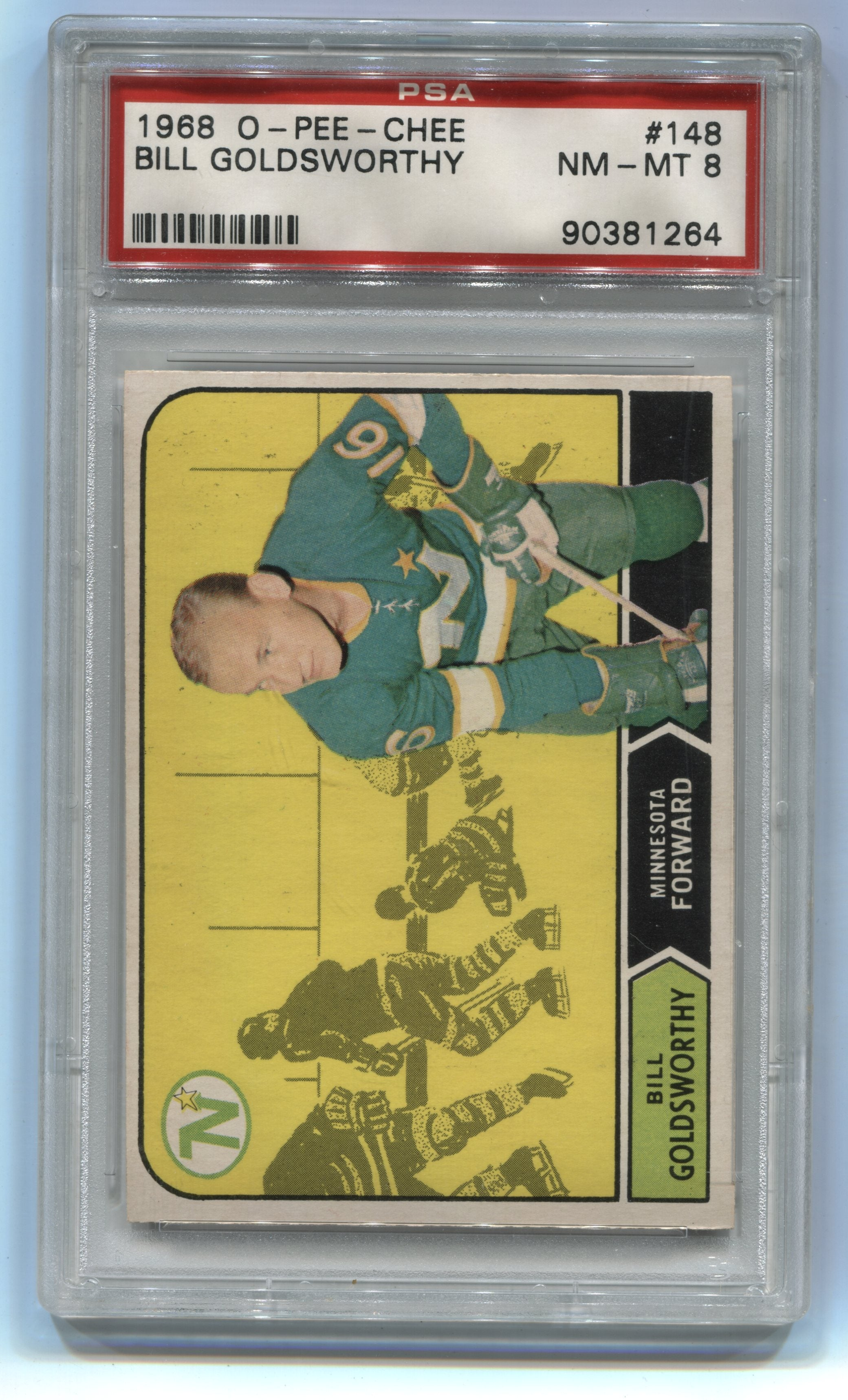 1968-69 O-Pee-Chee #148 Bill Goldsworthy PSA 8 (Rookie) | Eastridge Sports Cards