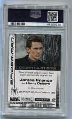 2007 Spider-Man 3 Autographs James Franco PSA 9 | Eastridge Sports Cards