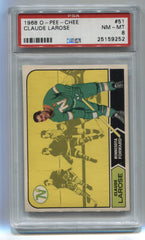 1968-69 O-Pee-Chee #51 Claude Larose PSA 8 | Eastridge Sports Cards