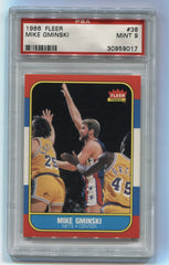 1986-87 Fleer #38 Mike Gminski PSA 9 | Eastridge Sports Cards