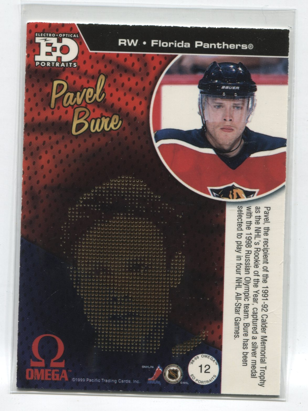1998-99 Pacific Omega EO Portraits #12 Pavel Bure | Eastridge Sports Cards