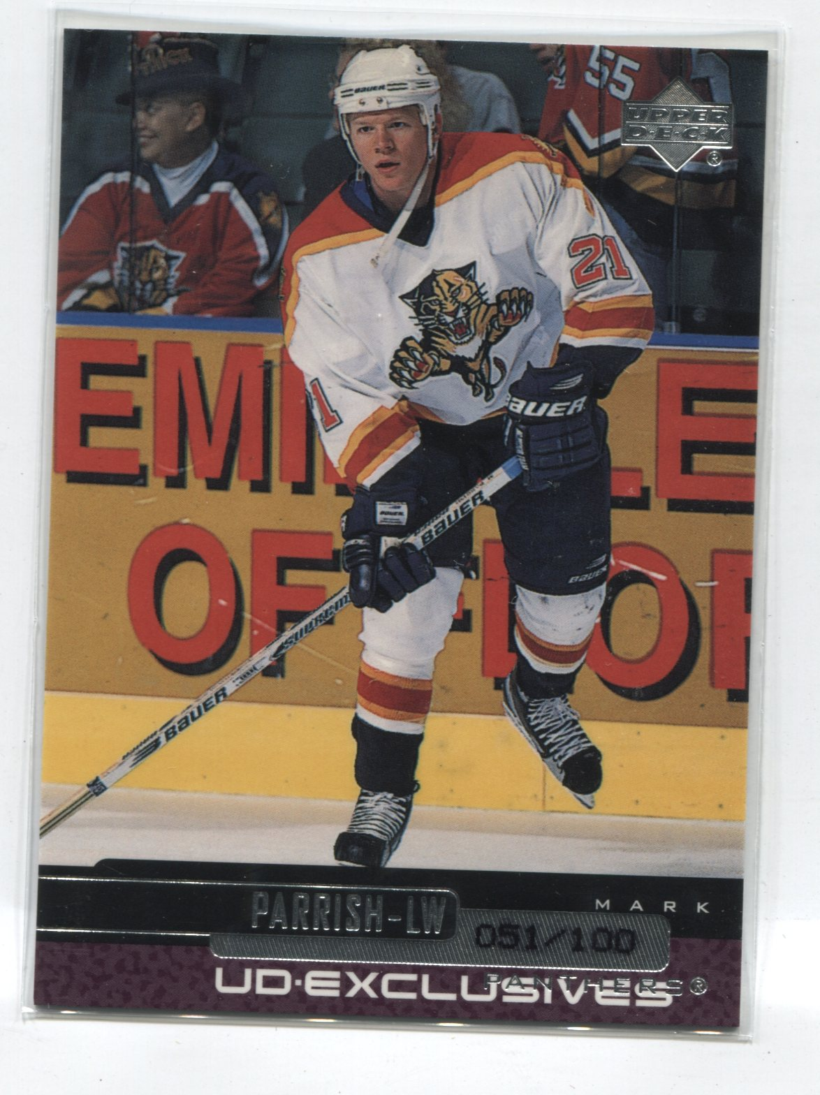 1999-00 Upper Deck Exclusives #58 Mark Parrish #/100 | Eastridge Sports Cards