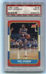 1986-87 Fleer #105 Rory Sparrow PSA 9 | Eastridge Sports Cards