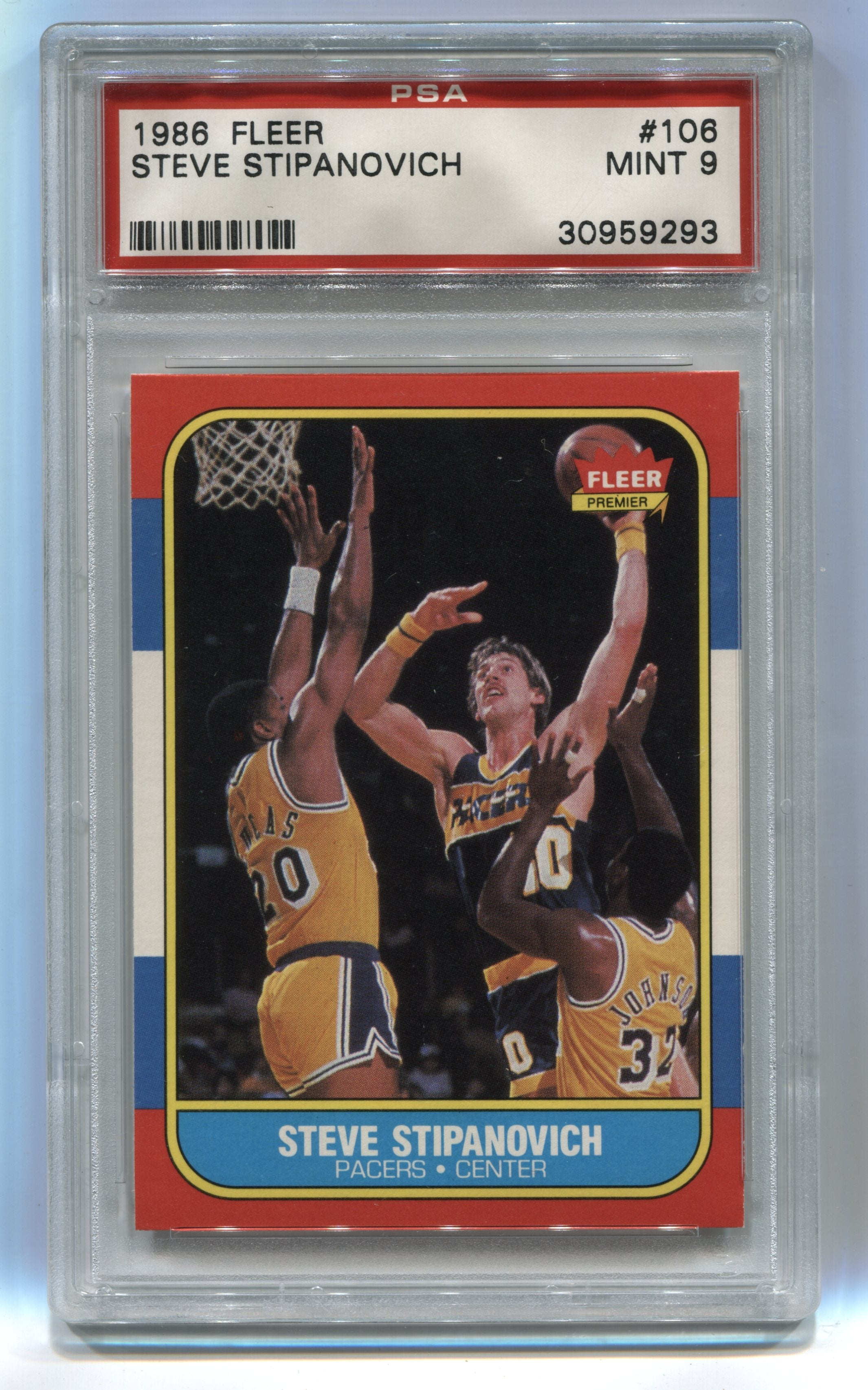 1986-87 Fleer #106 Steve Stipanovich PSA 9 | Eastridge Sports Cards