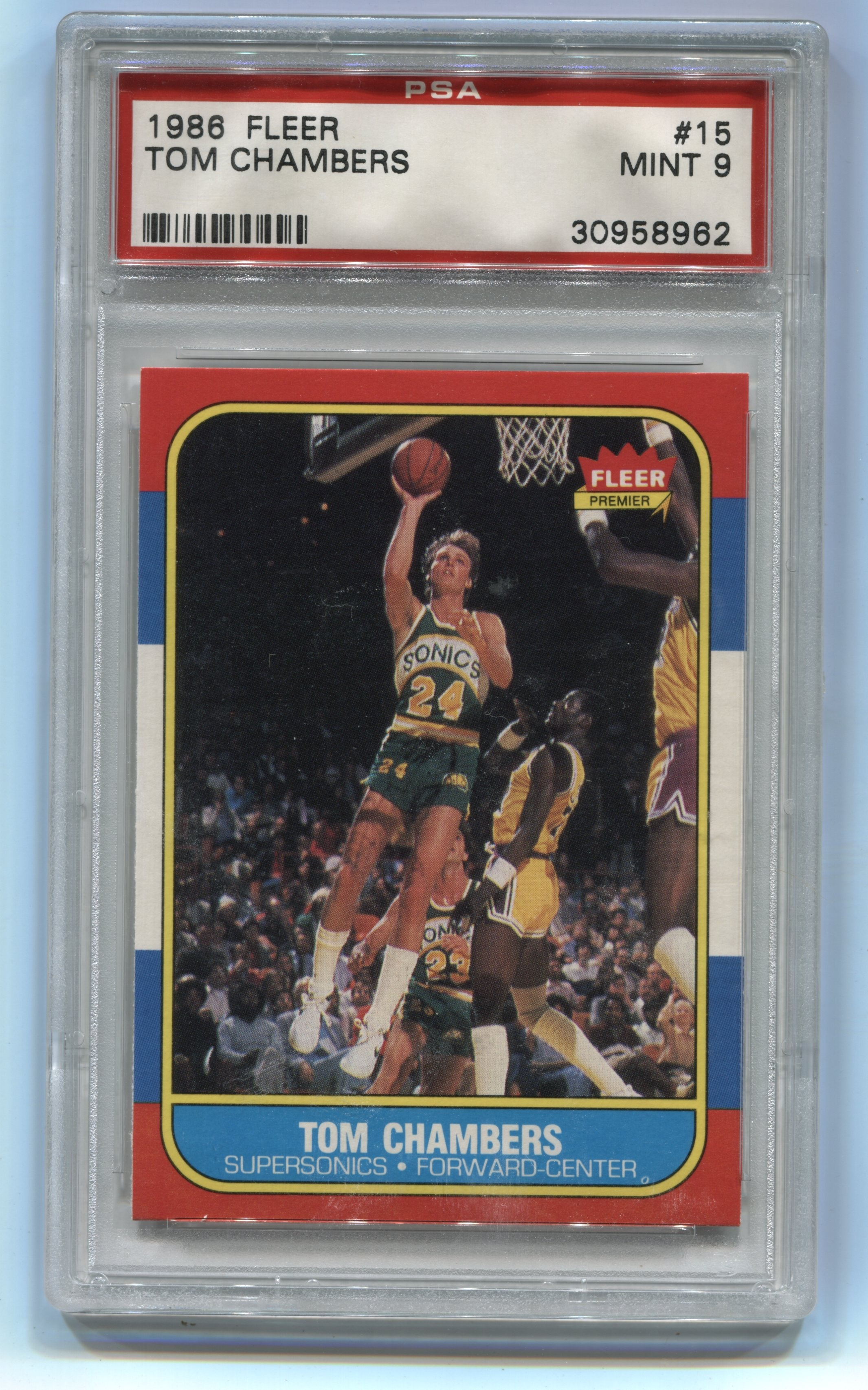 1986-87 Fleer #15 Tom Chambers PSA 9 (Rookie) | Eastridge Sports Cards