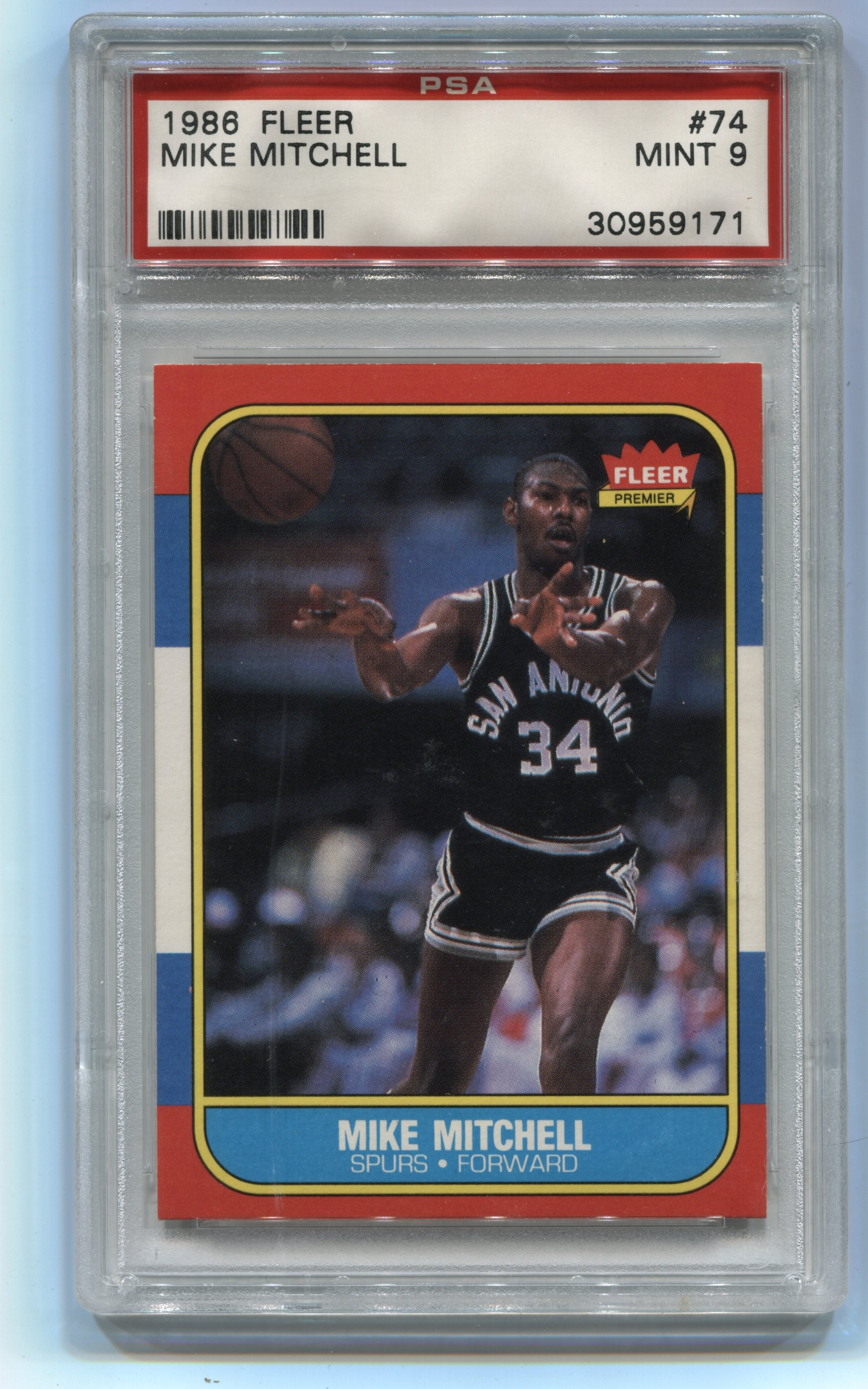 1986-87 Fleer #74 Mike Mitchell PSA 9 | Eastridge Sports Cards