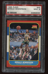 1986-87 Fleer #45 Gerald Henderson PSA 9 | Eastridge Sports Cards