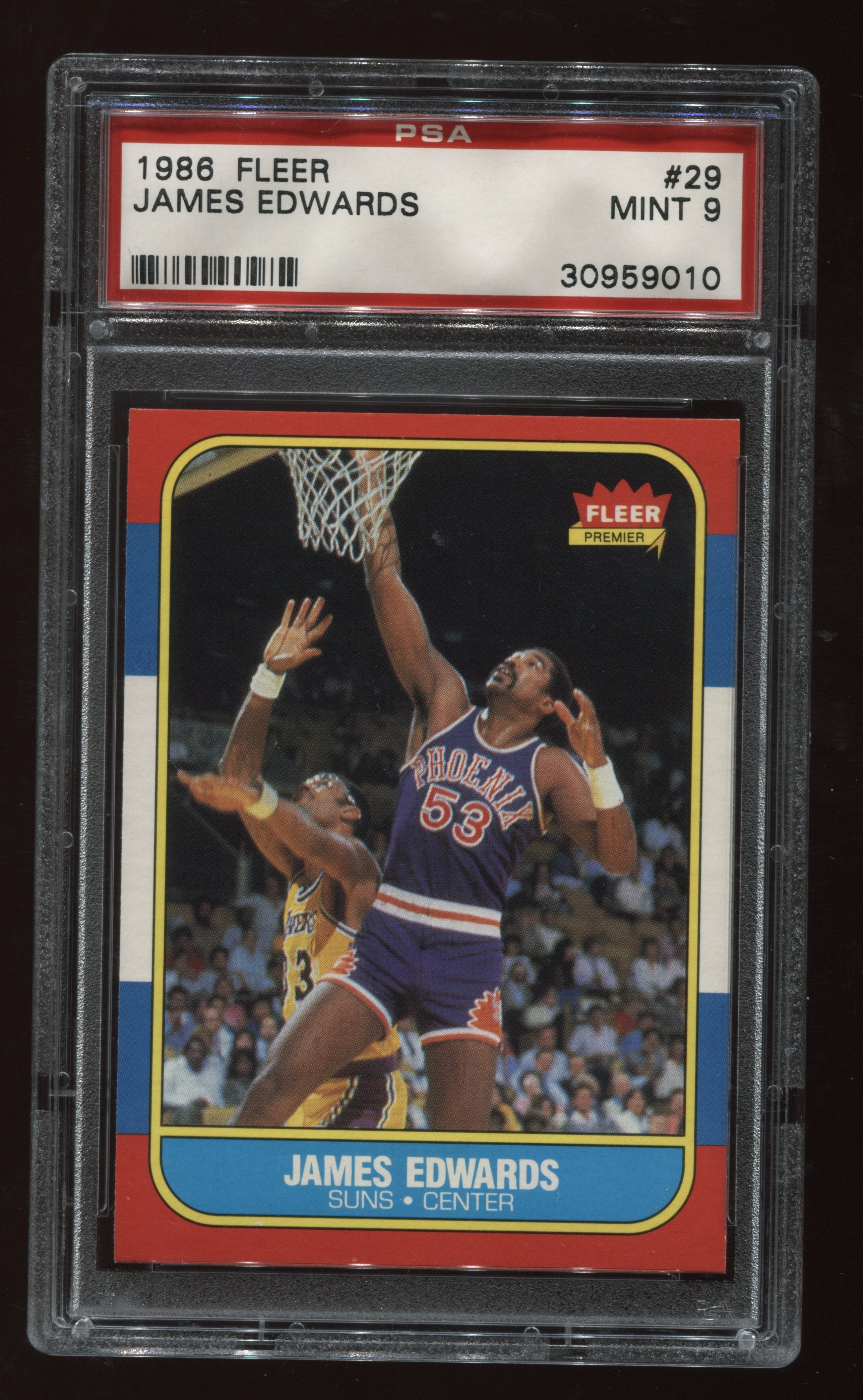 1986-87 Fleer #29 James Edwards PSA 9 | Eastridge Sports Cards