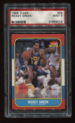 1986-87 Fleer #39 Rickey Green PSA 9 | Eastridge Sports Cards