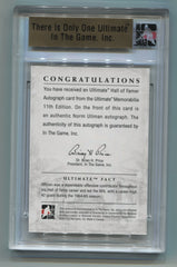 2011-12 ITG Ultimate Memorabilia 11th Edition Hall of Famer Autographs Silver Norm Ullman #04/14 | Eastridge Sports Cards