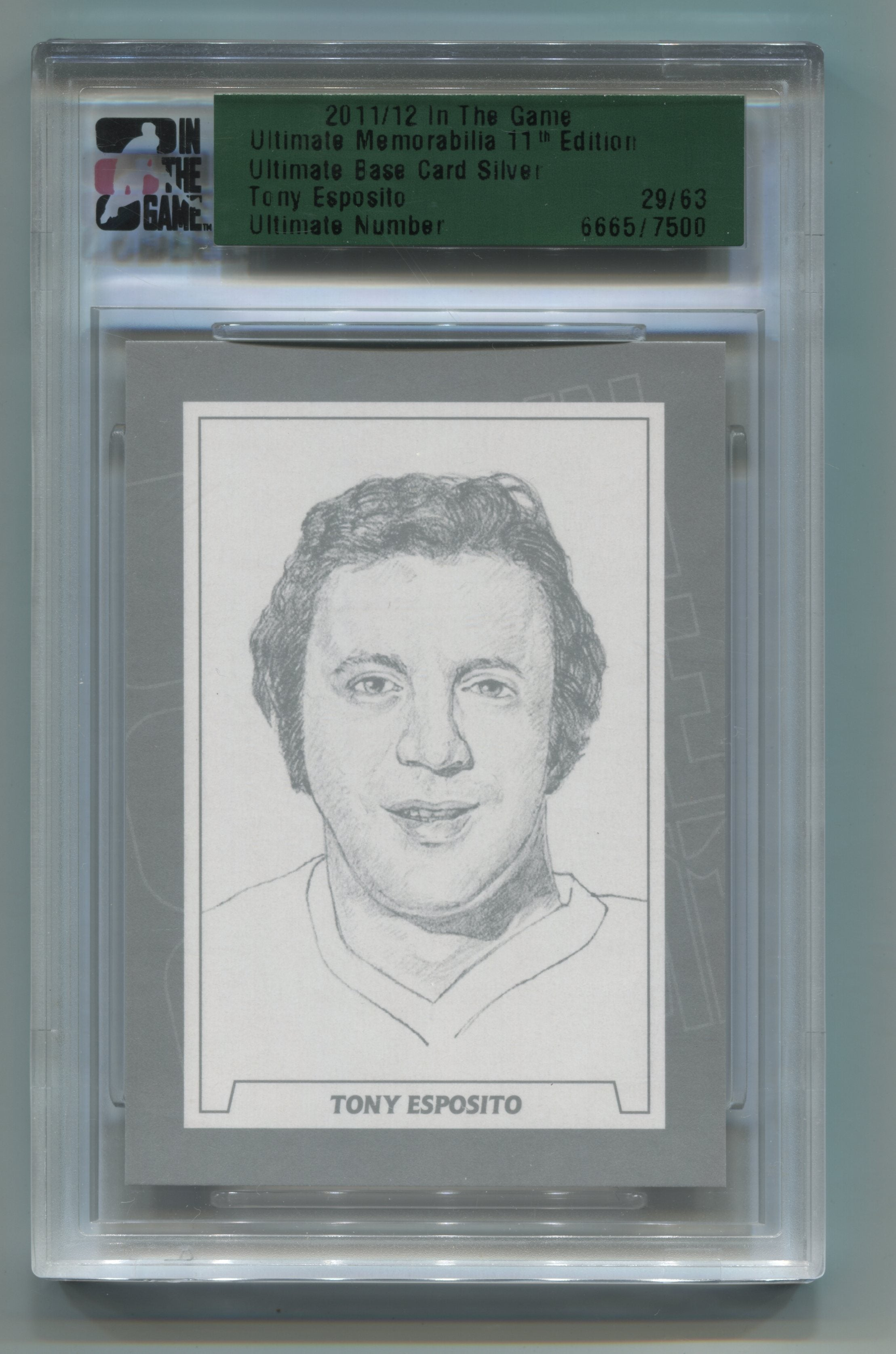 2011-12 ITG Ultimate Memorabilia 11th Edition Ultimate Base Card Silver #16 Tony Esposito  #29/63 | Eastridge Sports Cards