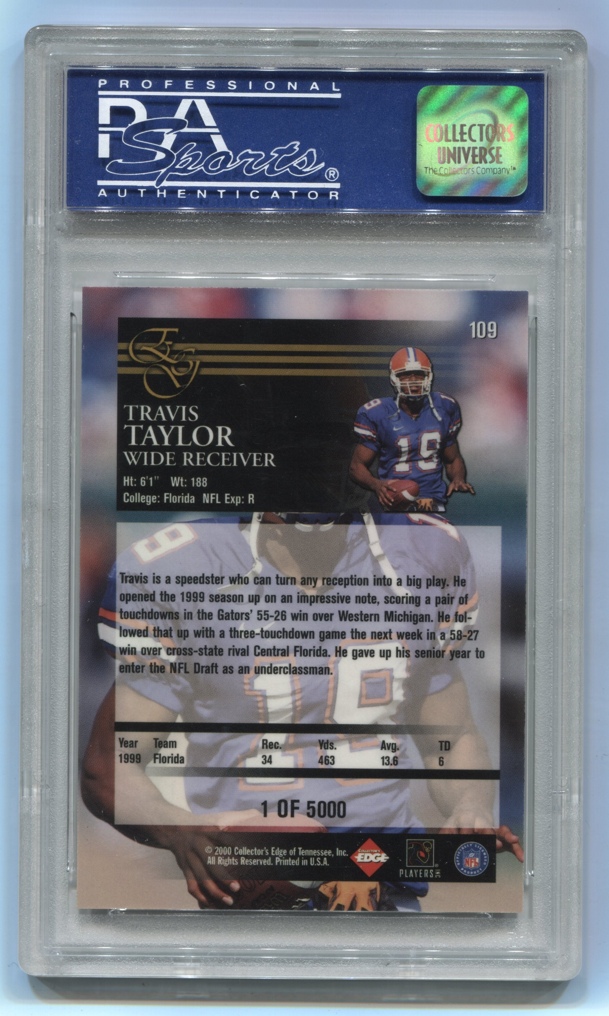 2000 Collector's Edge EG Uncirculated #109 Travis Taylor PSA 9 (Rookie) | Eastridge Sports Cards