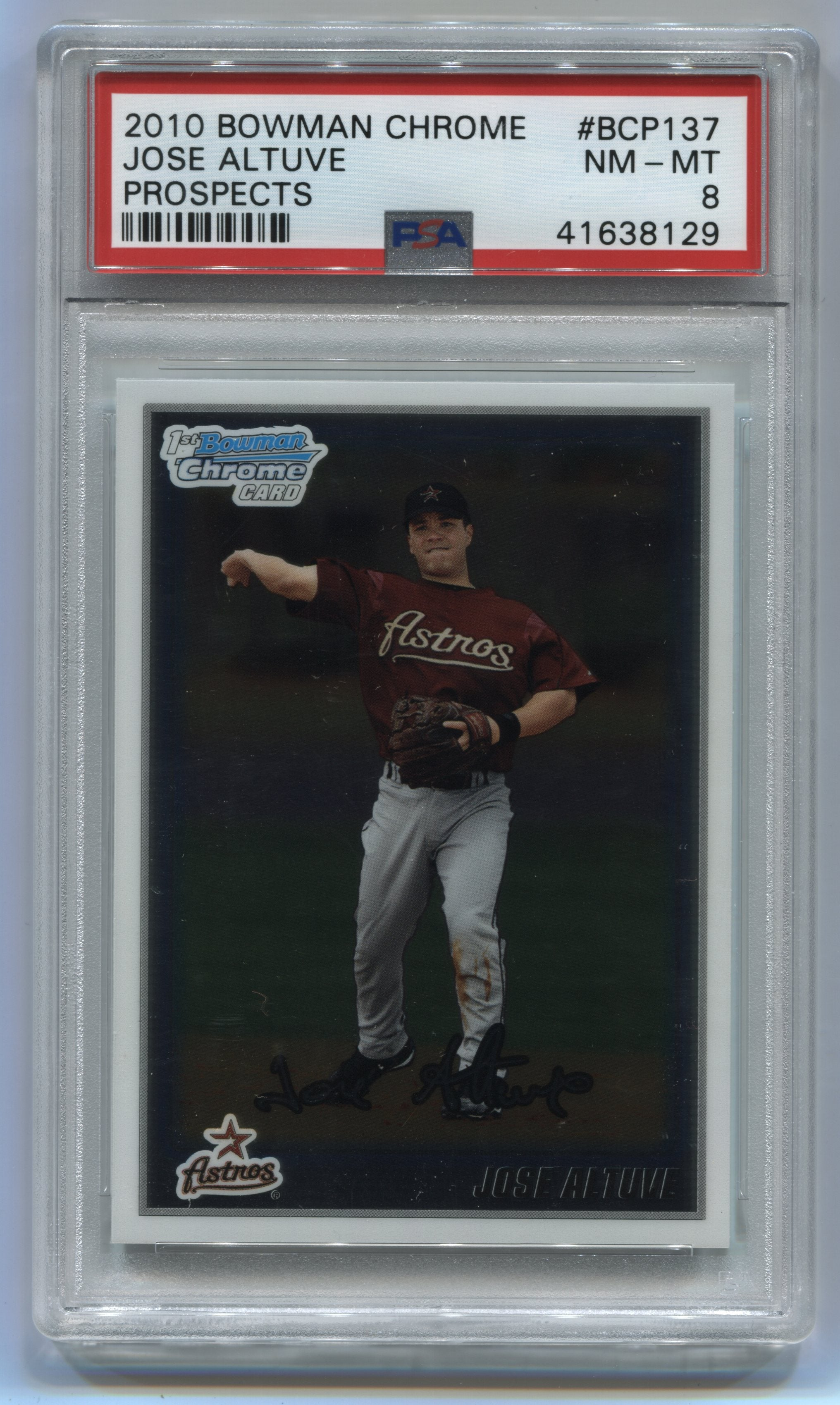 2010 Bowman Chrome Prospects #BCP137 Jose Altuve PSA 8 | Eastridge Sports Cards