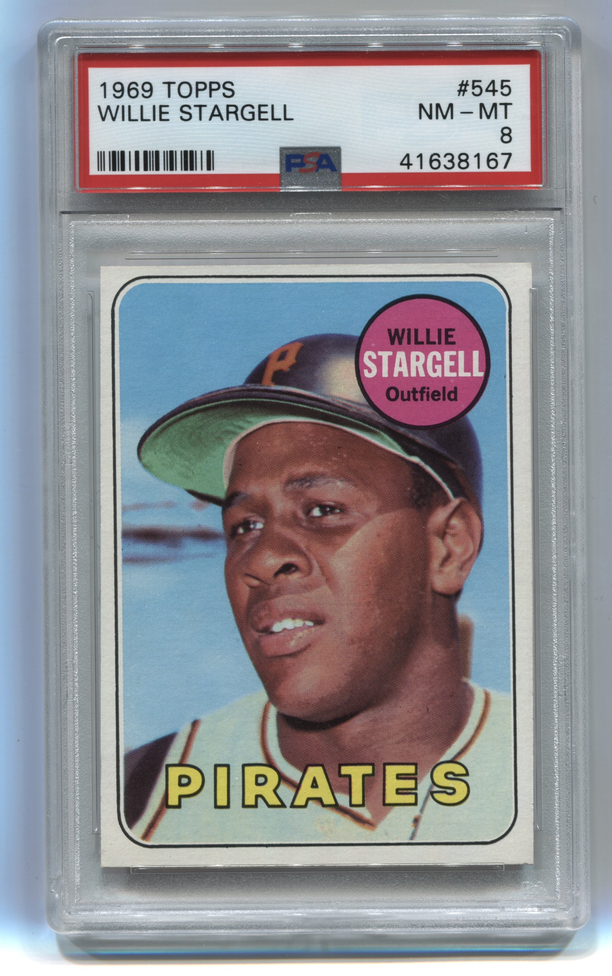 1969 Topps #545 Willie Stargell PSA 8 | Eastridge Sports Cards