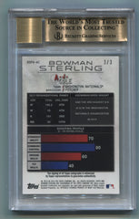 2014 Bowman Sterling Prospect Autographs Canary Diamond Refractors #BSPAAC A.J. Cole #3/3 BGS 9.5/10 | Eastridge Sports Cards