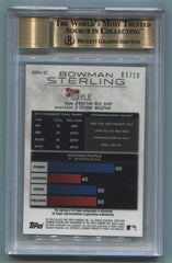 2014 Bowman Sterling Prospect Autographs Black Atomic Refractors #BSPASC Sean Coyle #01/10 BGS 9.5/10 | Eastridge Sports Cards