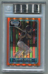 2006 Bowman Chrome Prospects Orange Refractors #BC55 Casey Craig #25/25 BGS 9 | Eastridge Sports Cards