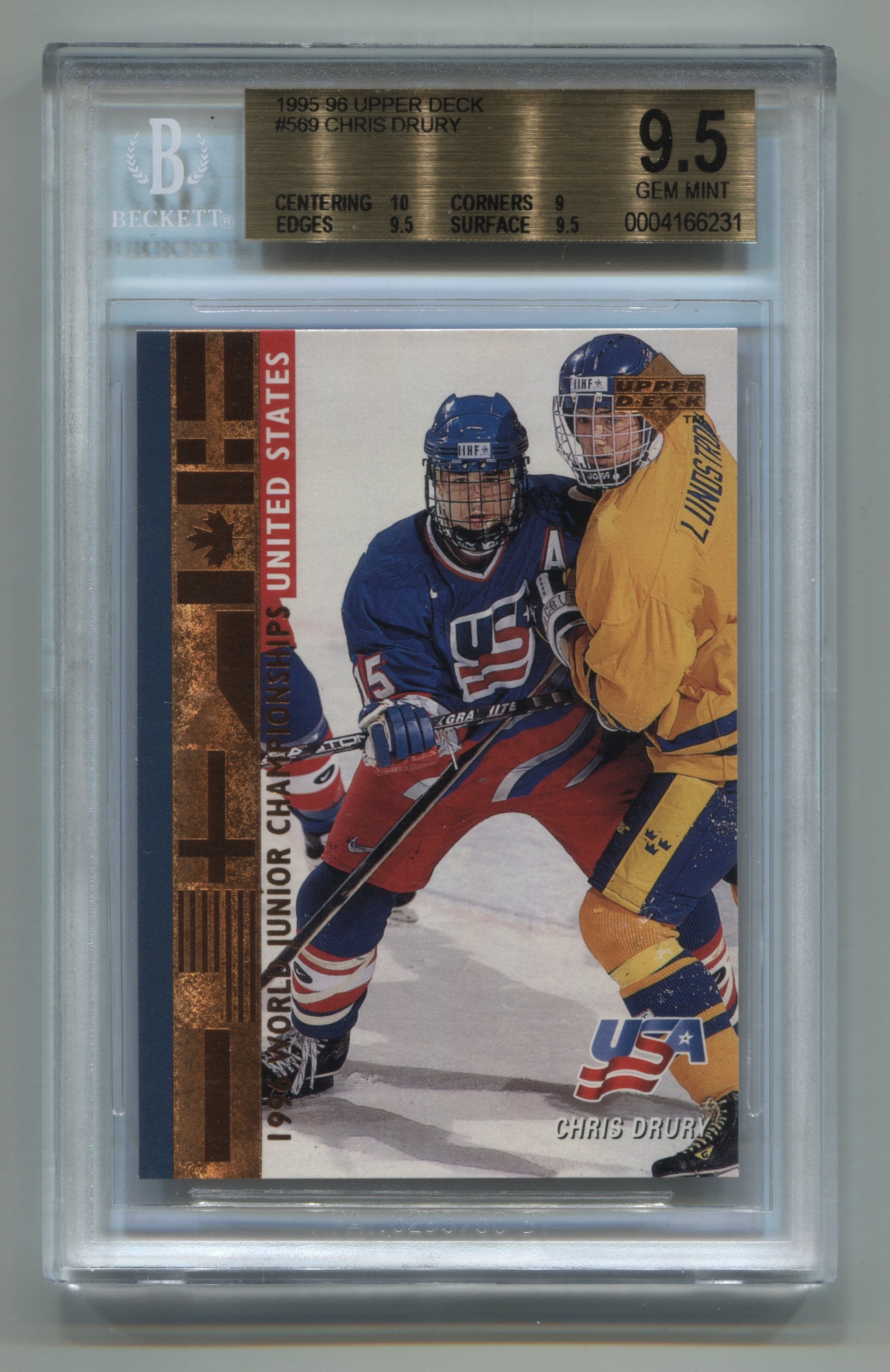 1995-96 Upper Deck #569 Chris Drury BGS 9.5 (Rookie) | Eastridge Sports Cards