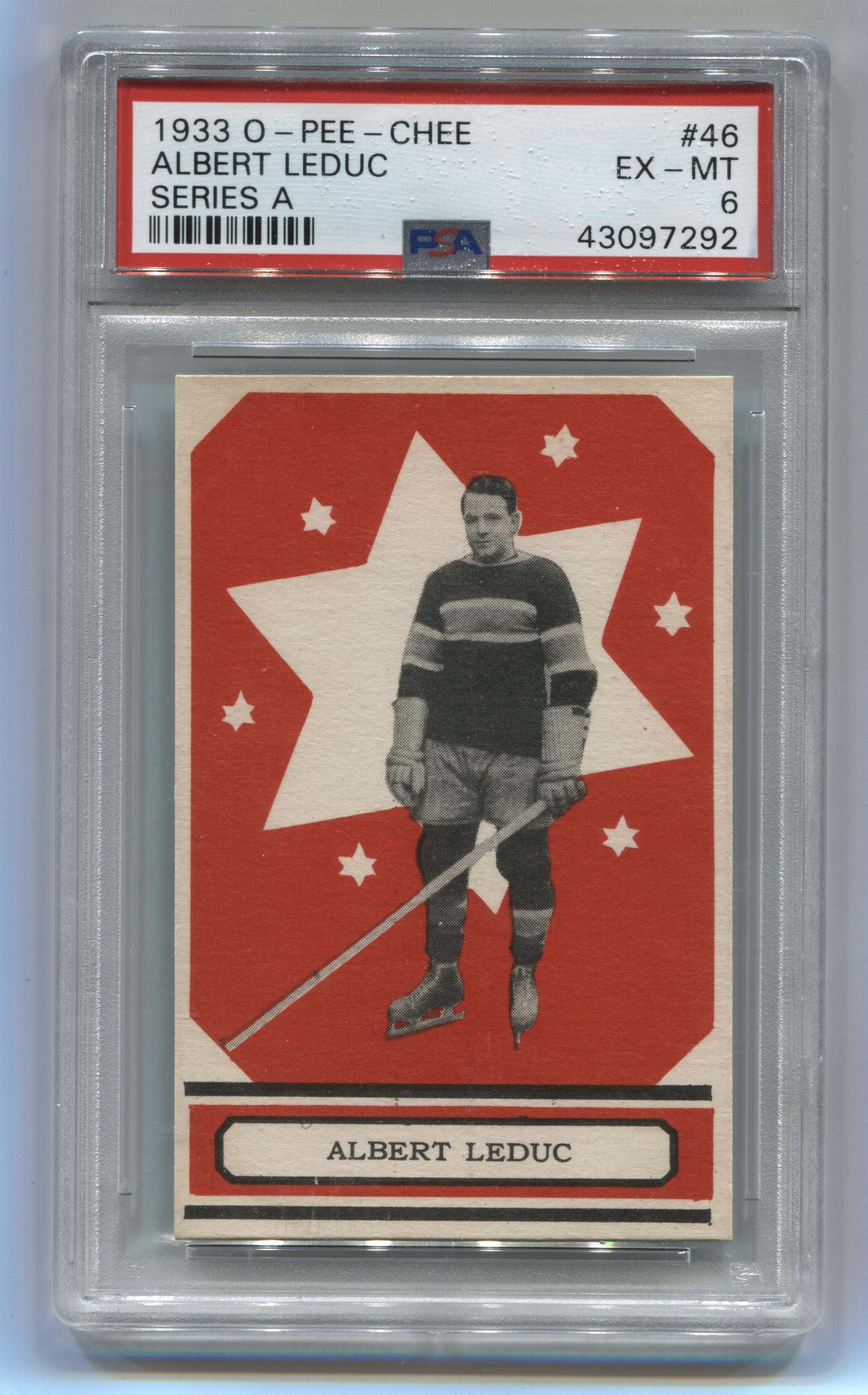1933-34 O-Pee-Chee V304A #46 Albert Leduc PSA 6 (Rookie) | Eastridge Sports Cards