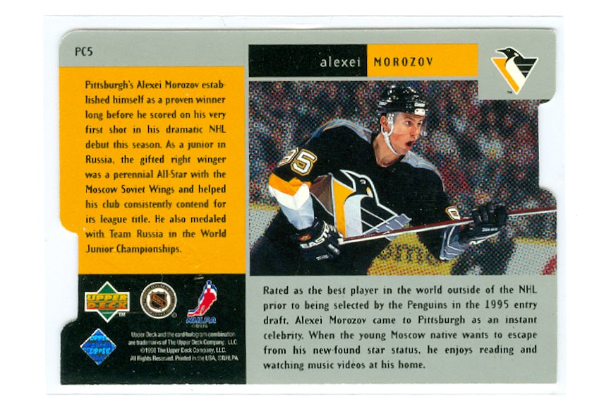 1997-98 Black Diamond Premium Cut Quadruple Diamond Horizontal #PC05 Alexei Morozov | Eastridge Sports Cards