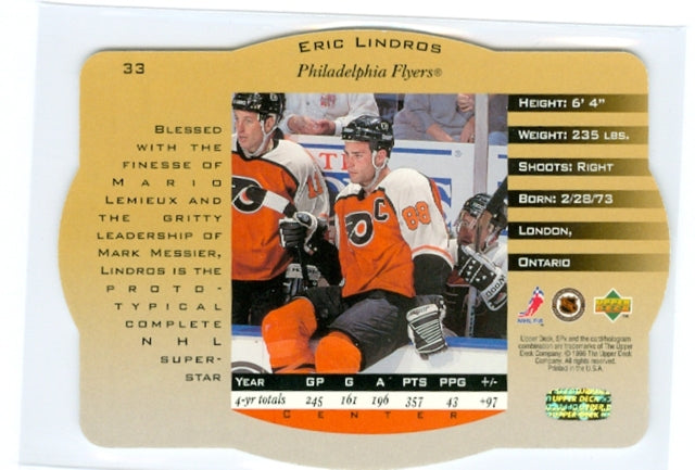 1996-97 SPX Gold #33 Eric Lindros | Eastridge Sports Cards