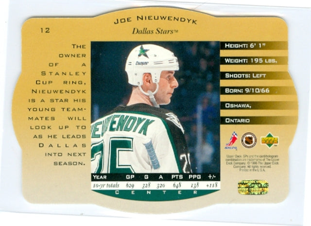 1996-97 SPX Gold #12 Joe Nieuwendyk | Eastridge Sports Cards