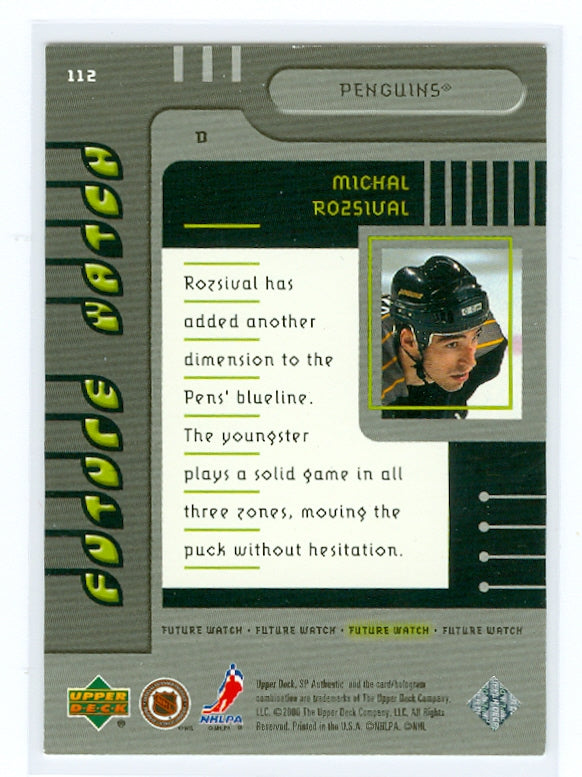1999-00 SP Authentic #112 Michal Rozsival #/2000 (Rookie) | Eastridge Sports Cards