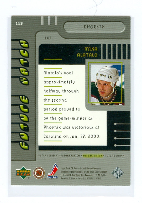 1999-00 SP Authentic #113 Mika Alatalo #/2000 (Rookie) | Eastridge Sports Cards