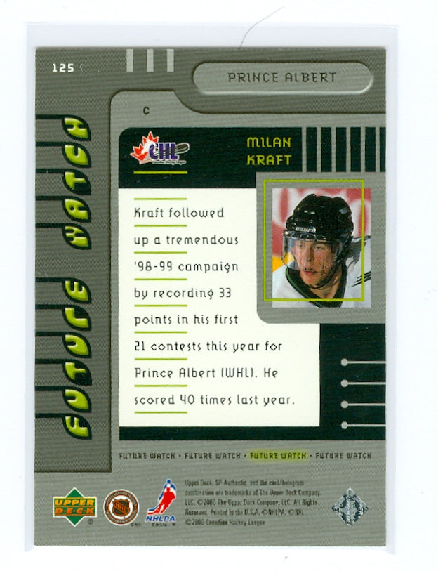 1999-00 SP Authentic #125 Milan Kraft #/2000 (Rookie) | Eastridge Sports Cards