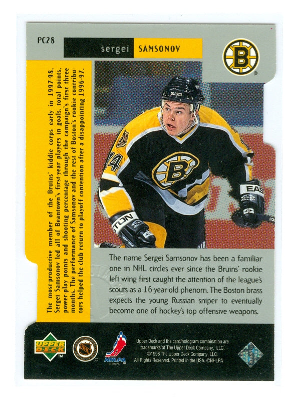 1997-98 Black Diamond Premium Cut Double Diamond #PC28 Sergei Samsonov | Eastridge Sports Cards