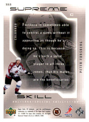 1999-00 SP Authentic Supreme Skill #SS03 Peter Forsberg | Eastridge Sports Cards