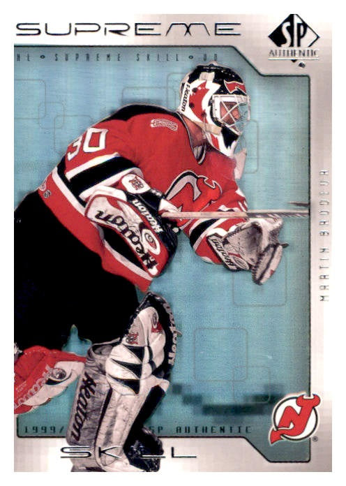 1999-00 SP Authentic Supreme Skill #SS07 Martin Brodeur | Eastridge Sports Cards