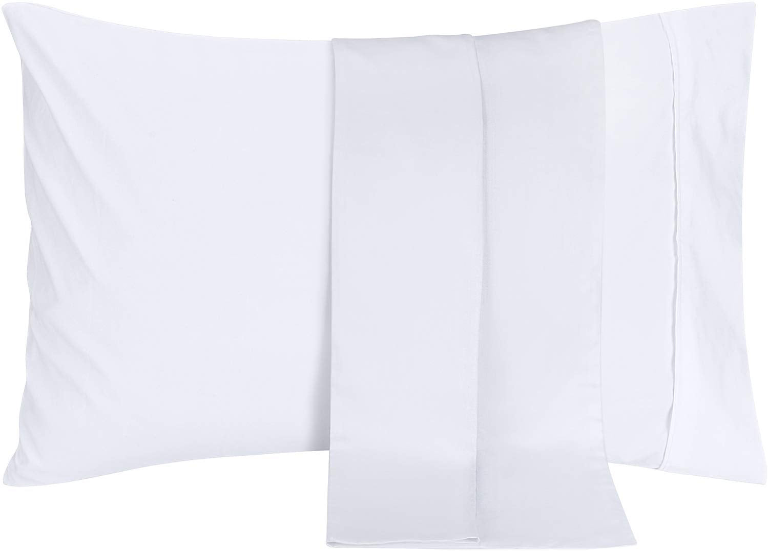 King, White Utopia Bedding Pillowcases Soft Brushed Microfiber Fabric- Wrinkle Shrinkage and Fade Resistant Pillow Covers 4 Pack
