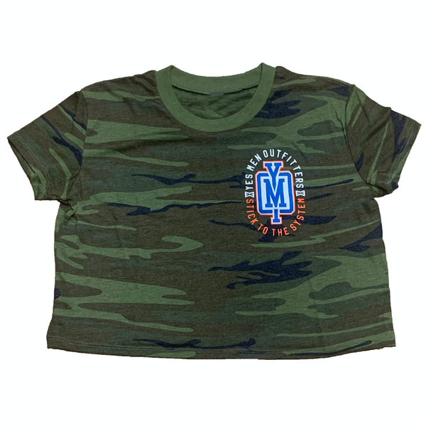 Ladies Camo Crop Tee